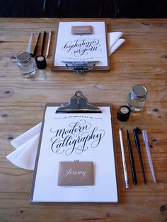 Modern Calligraphy workshops in Surrey, UK with The Fine Letter Co.