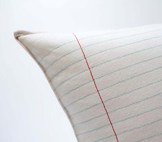 lined paper pillow by pilosale on Etsy, $48.00