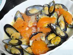 Να λείπει το ... βύσσινο!: Μύδια αχνιστά Appetisers, Sea Food, Seafood Recipes, Ocean Perch Recipes