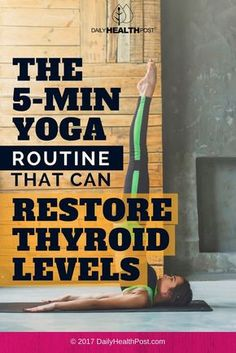 This routine is easy to do and only takes 5 minutes.