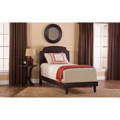 Lawler Queen Bed, Brown Faux Leather