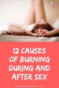 Burning during sex pregnancy