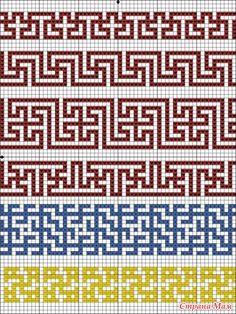 Рисунок chart roman key and cross repeats Tapestry Crochet Patterns, Crochet Stitches Patterns, Loom Patterns, Mosaic Patterns, Embroidery Patterns, Cross Stitch Patterns, Knitting Patterns, Crochet Diagram, Crochet Chart