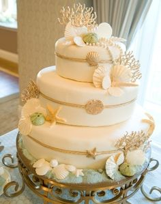 Seashell Wedding Details For Beach Weddings | Bride's Blog http://www.silverlandjewelry.com/blog/?p=7747