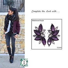 Ref: CL004 Maximum Purple Medidas: 4 cm x 2.5 cm So Oh: 9.99  #sooh_store #onlinestore #style #inspiration #styleinspiration #brincos #earrings #fashion #shoponline #aw2016 #aw1617 #winterstyle