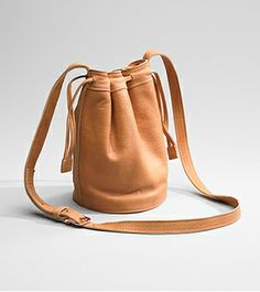 American-made leather drawstring bag (6 color options) from Shinola... this bag is very current & Shinola is a great example of the Detroit Renaissance