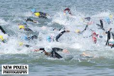 Sea swimming in the Quateira Triathlon ETU