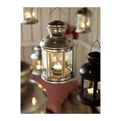 ROTERA Lantern for tealight, galvanized indoor/outdoor galvanized