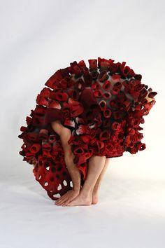 Felt costumes by Marjolein Dallinga