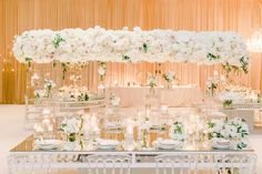 This Floor to Ceiling Luxury Wedding Has 3 Fabulous Floral Walls! Tall Wedding Centerpieces, Destination Wedding Inspiration, Reception Table, Floral Wall, Luxury Wedding, Event Design, Floral Design, Bloom, Romantic