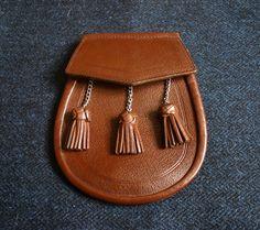 SPORRAN - Brown Leather by BananastandVintage on Etsy