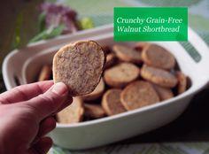 Crunchy Grain Free Walnut Shortbread, use the stevia option