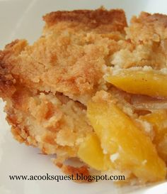 Fruit Cobbler ~ This recipe works with almost any kind of fruit. I love the sugar cookie type of crust.