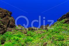Qdiz Stock Photos Mountains on Tenerife Island in Spain,  #blue #Canary #day #green #island #landmark #landscape #mountain #nature #park #rock #sky #Spain #spring #summer #Tenerife #Travel #tree #view