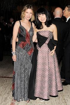Lizzie Tisch and Hanako Maeda at the New York City Ballet 2015 Fall Fashion Gala