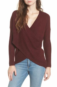 e42d24347359ef ASTR the Label Wrap Front Sweater