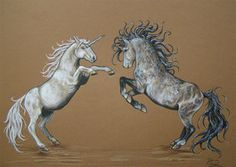 unicorn fight by Hikari-kirin