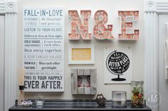 Dwell Beautiful decorates some Heidi Swapp Marquee Letters and adds them to a fun love-themed gallery wall in her master bedroom for instant charm!