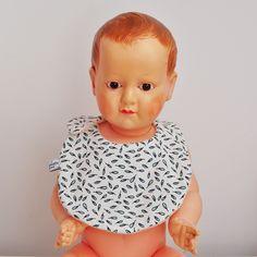bavoir bébé bio feathers coton biologique baby bib organic fabric