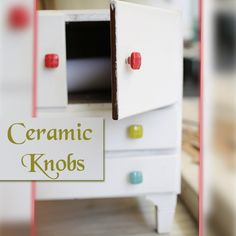 Ceramic handmade drawer knob available in multi-color and in multi-shapes at discounted price. For more details visit our website. Handmade Drawers, Ceramic Knobs, Drawer Knobs, Shapes, Ceramics, Website, Color, Ceramica, Pottery