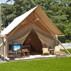Tent camping redefined: The luxury tent from The Resort at Paws Up. (At the Montana location, this comes with your very own camping butler!)