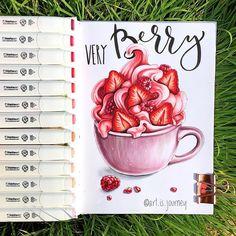 Berries, pink, frozen yogurt, strawberries, raspberries, breakfast, bowl, summer, drawing, illustration. I miss berries sooo much, can't wait to go back homeКогда же наконец я смогу поесть ягоды Ягодки мне вас так не хватает, хорошо что есть…