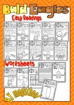 BALD EAGLE ( READY TO PRINT EASY READINGS AND WORKSHEETS) - TeachersPayTeachers.com