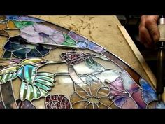Dichroic Stained Glass soldering 001g