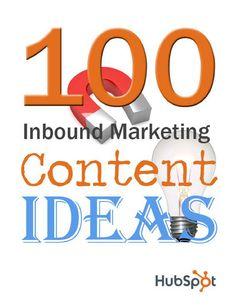 eBook - 100 Inbound Marketing Content Ideas
