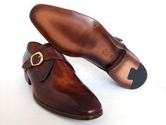 PAUL PARKMAN ® The Art of Handcrafted Men's Footwear - Paul Parkman Men's Monkstrap Dress Shoes Brown & Camel (ID#011B44)