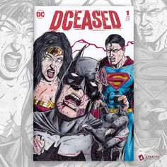 DCEASED Sketch Cover I drew for our 1500 Followers on Instagram contest.  #batman #wonderwoman #superman #sketchcover #sketchcovers #sketchcoverart #dceased #comicart #comicbookart #comicartist #comicbookartist