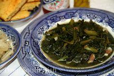 Southern Style Turnip Greens with Salt Pork