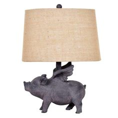 Our Hogs Fly Table Lamp is a quirky piece that adds a fun feel to any room - for just $48! - FFO Home