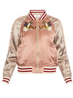 Embroidered silk bomber jacket | Muveil | MATCHESFASHION.COM US