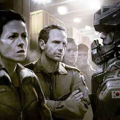 """Today director Neil Blomkamp (District 9, Elysium, Chappie) posted a new piece of concept art for his upcoming Alien film. The concept art features Ripley (Sigourney Weaver) & Hicks (Michael Biehn). The film will reportedly take place after Aliens (1986) and will ignore the other sequels. The status of the movie is still unknown, but Blomkamp says it's """"going very well."""" @neillblomkamp #NeilBlomkamp #SigourneyWeaver #MichaelBiehn #Alien #Alien5"""
