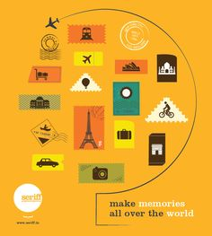 Make memories all over the world. #memories #stamps #places #countries #travel #vacation #summer #family #fun #graphicdesign #Seriff