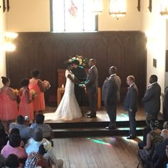 Tara & Eugene's ceremony at All Saints Chapel in Raleigh NC #bunndjco #allsaintschapel #weddingvenue