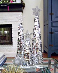 Christmas trees with bling