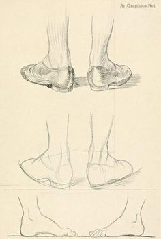 How to draw feet, foot drawing book