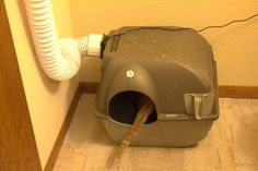 This a DIY tutorial on how to build a cheap ventilated litter box that vents outside. The litter box will be odorless, and stop sinking up your living space.