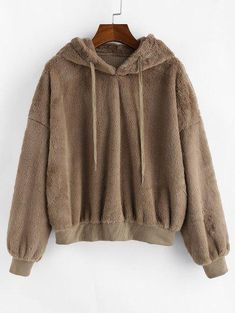 ZAFUL Faux Fur Fluffy Drop Shoulder Hoodie USD The Effective Pictures We Offer You About Women Hoodies photography A quality picture can tell you many things. You can find the most beautiful pic Sweat Shirt, Sweatshirts Online, Hooded Sweatshirts, Money Clothing, Colorful Hoodies, Hoodie Outfit, Fleece Hoodie, Types Of Sleeves, Pattern Fashion