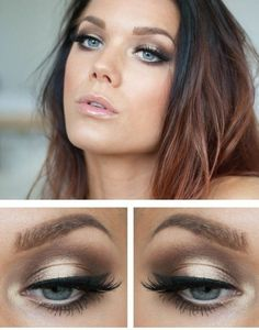Schminktipps Ideen Augen wunderschöne Lidschatten Lippenstift (Hair Braids Prom)