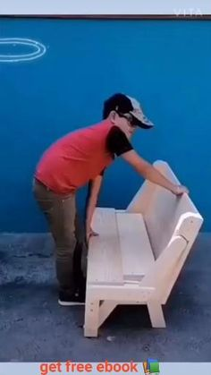 Folding Furniture, Diy Outdoor Furniture, Smart Furniture, Space Saving Furniture, Home Decor Furniture, Pallet Furniture, Furniture Plans, Woodworking Techniques, Woodworking Projects Diy