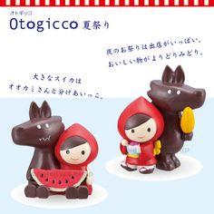 デコレ(decole)オトギッコ(otogicco) 夏のマスコット ダブル:すいかと食べ歩きセット