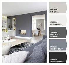 master bedroom paint colors Paint colors from Chip It! by Sherwin-Williams Room Paint Colors, Paint Colors For Home, House Color Schemes, House Colors, Farmhouse Paint Colors, Grey Flooring, Living Room Grey, House Painting, Colorful Interiors
