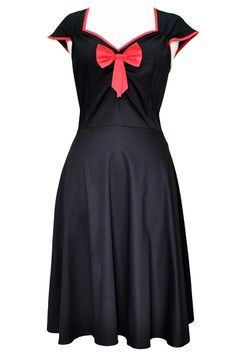 """Black with Red Trim """"Isabella"""" Dress from Stylish Plus - Plus Size Clothing Australia"""