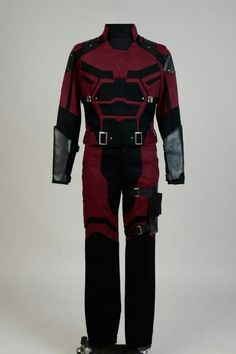 Front costume Cosplay Outfits, Cosplay Costumes, Daredevil Cosplay, Halloween Cosplay, Marvel Comics, Wetsuit, Motorcycle Jacket, Thighs, Trousers