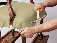 How to reupholster a chair - another DIY I will soon undertake.