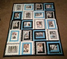 20 photo memory quilt by Just4umadebyme on Etsy, $180.00