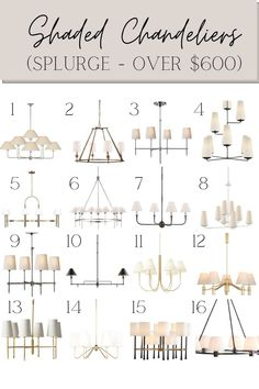 A lighting guide round up of 32 modern traditional shaded chandeliers from designers and budget-friendly dupes for a classic room design. Chandelier Fan, Chandelier Shades, Chandeliers, Diy Roman Shades, Taking Shape, Modern Traditional, Affordable Home Decor, Spring Home, Home Decor Items